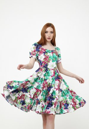 SARATA - Cocktail dress / Party dress - weiß, himbeere