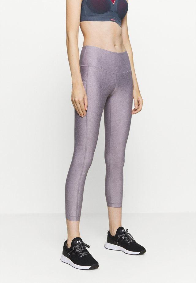 HI RISE CROP - Punčochy - slate purple light heather