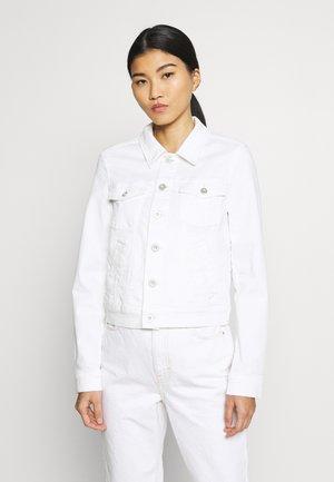 JACKET BUTTON CLOSURE GARMENT DYED - Jeansjakke - soft white