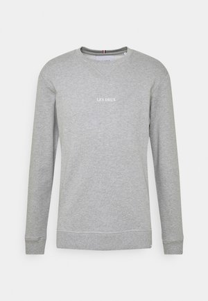 LENS - Sweatshirt - light grey melange/white