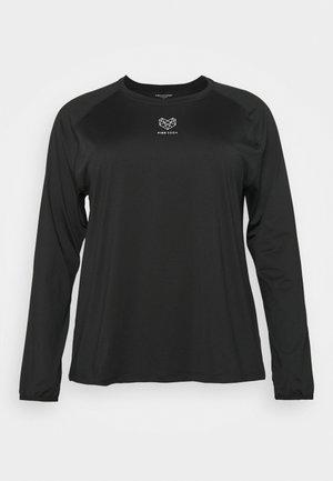 MEDLEY FITNESS CURVE - Sports shirt - black