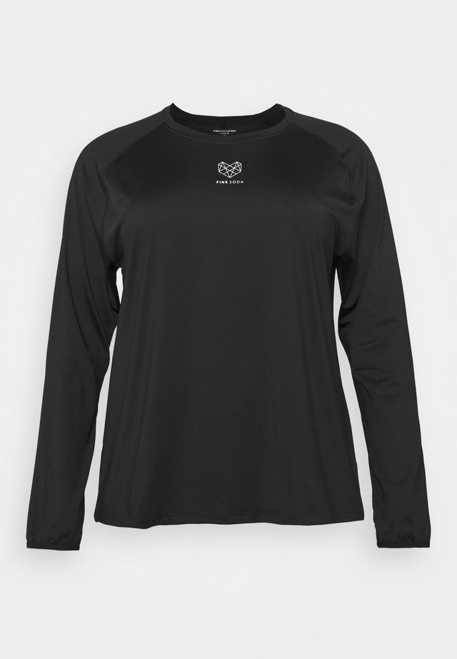 MEDLEY FITNESS CURVE - Sports shirt - black