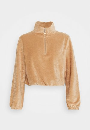 ONLJACKIE ZIPPER - Sweatshirt - indian tan