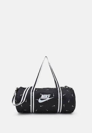 HERITAGE DUFF - Sports bag - black/black/white