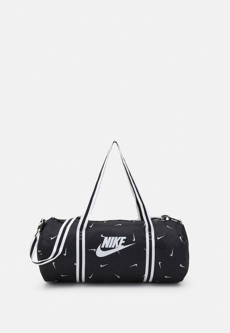 Nike Sportswear - HERITAGE DUFF - Sports bag - black/black/white