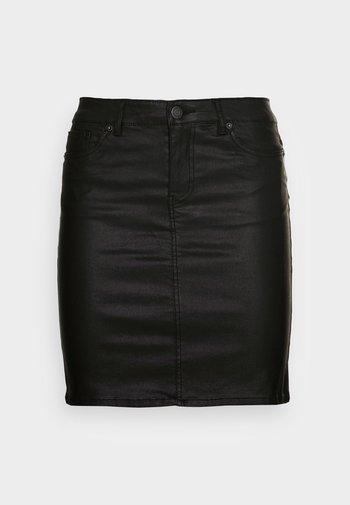 VMFAITH SHORT COATED SKIRT - Mini skirt - black