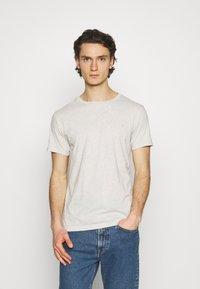 Replay - CREW TEE 3 PACK - Basic T-shirt - chalk melange / black / dark gery melange - 3