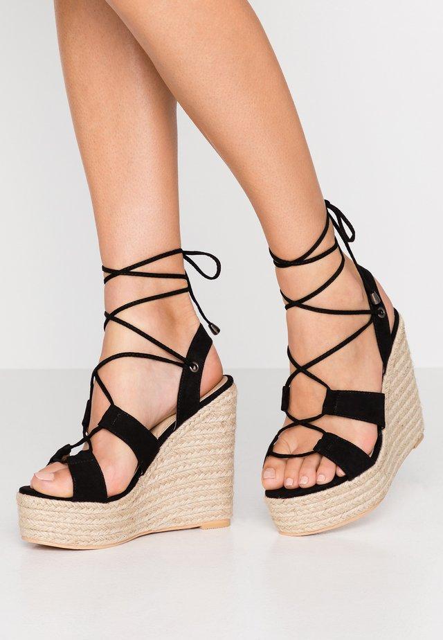 HATTIE - High heeled sandals - black