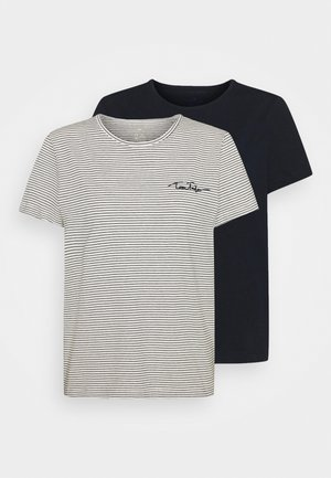 2PACK - Print T-shirt - sky captain blue