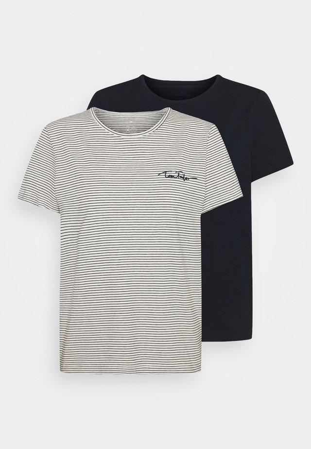 2PACK - T-shirt print - sky captain blue