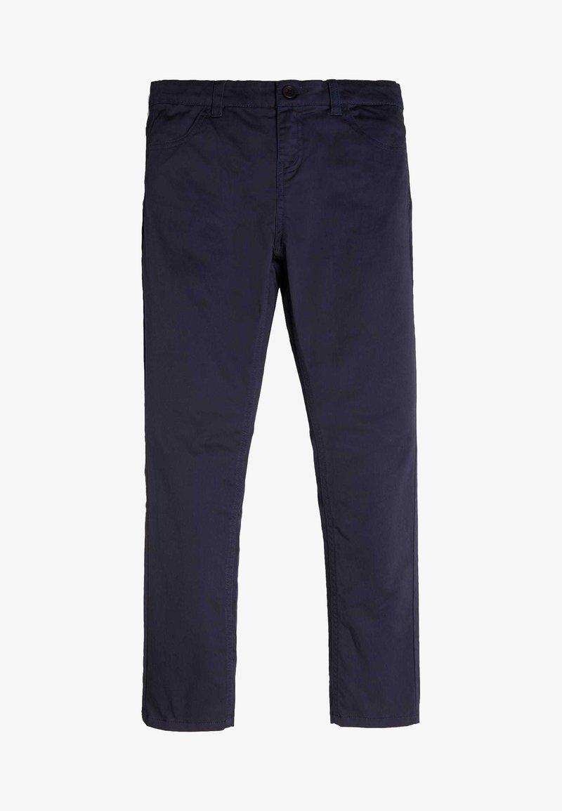 Guess - PANTALON EN SATIN - Pantalones - blue