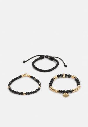 GUTHIEN 3 PACK - Armband - black/gold-coloured