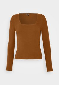 Vero Moda - VMNEWAVA SQUARE NECK - Long sleeved top - argan oil - 0