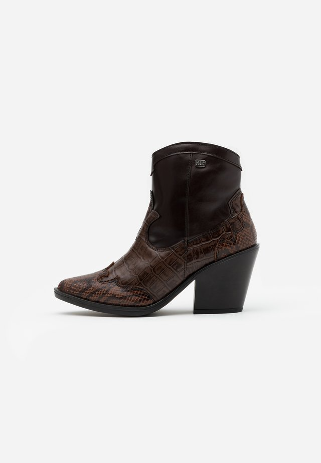 BRAMI - Boots à talons - dark brown
