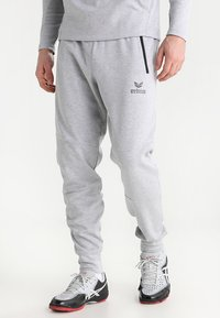 Erima - ESSENTIAL  - Tracksuit bottoms - light grey melange/black - 0