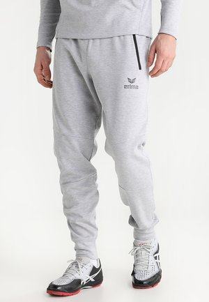 ESSENTIAL  - Tracksuit bottoms - light grey melange/black