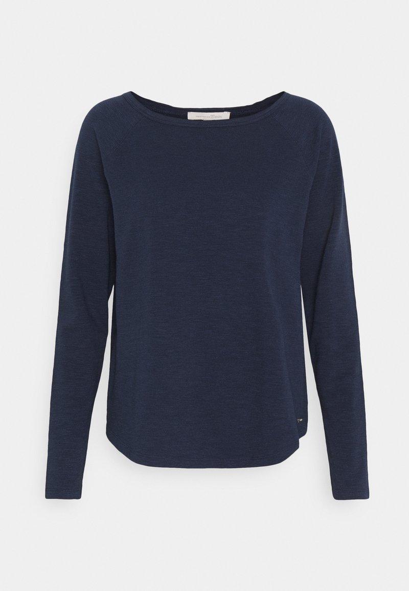 TOM TAILOR DENIM - RAGLAN - Maglietta a manica lunga - real navy blue
