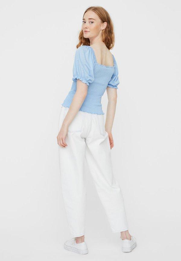 Vero Moda Bluzka - placid blue/jasnoniebieski RDTJ