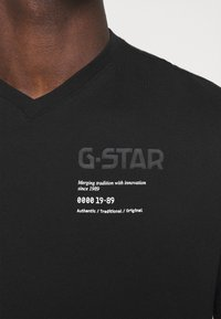 G-Star - CHEST GRAPHIC - Triko spotiskem - black - 3