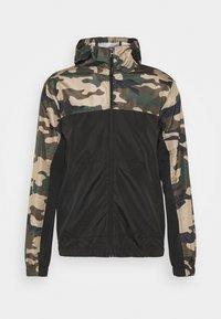 ASHBLOCKCAMO - Summer jacket - black/ khaki