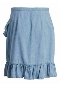 Vila - A-snit nederdel/ A-formede nederdele - light blue denim - 5