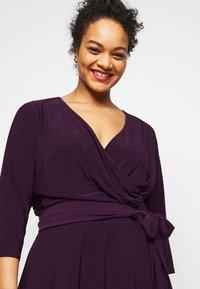Lauren Ralph Lauren Woman - CARLYNA DAY DRESS - Jersey dress - raisin - 4