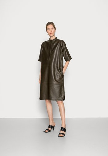 INDIE LEATHER NEW DRESS - Day dress - wren