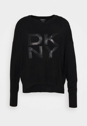 LOGO - Strickpullover - black