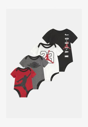JORDAN MILESTONE STICKER SET UNISEX - Jumpsuit - black/red/white
