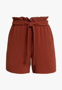 ONLY - ONLTURNER PAPER BAG  - Shorts - russet brown - 3