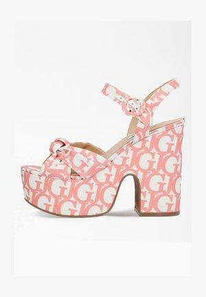 High heeled sandals - mehrfarbe rose