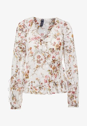 GARLAND PETAL WRAP TOP - Bluse - ivory