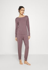 Calvin Klein Underwear - PERFECTLY FIT FLEX JOGGER - Pyjama bottoms - plum dust - 1