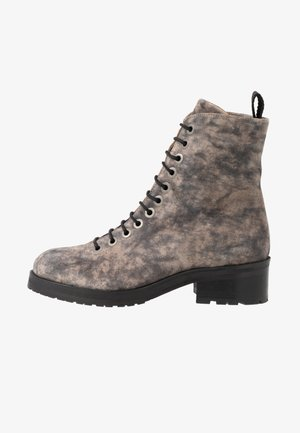 DISTRICT HIKER COMBAT BOOT - Lace-up ankle boots - grey/multicolor