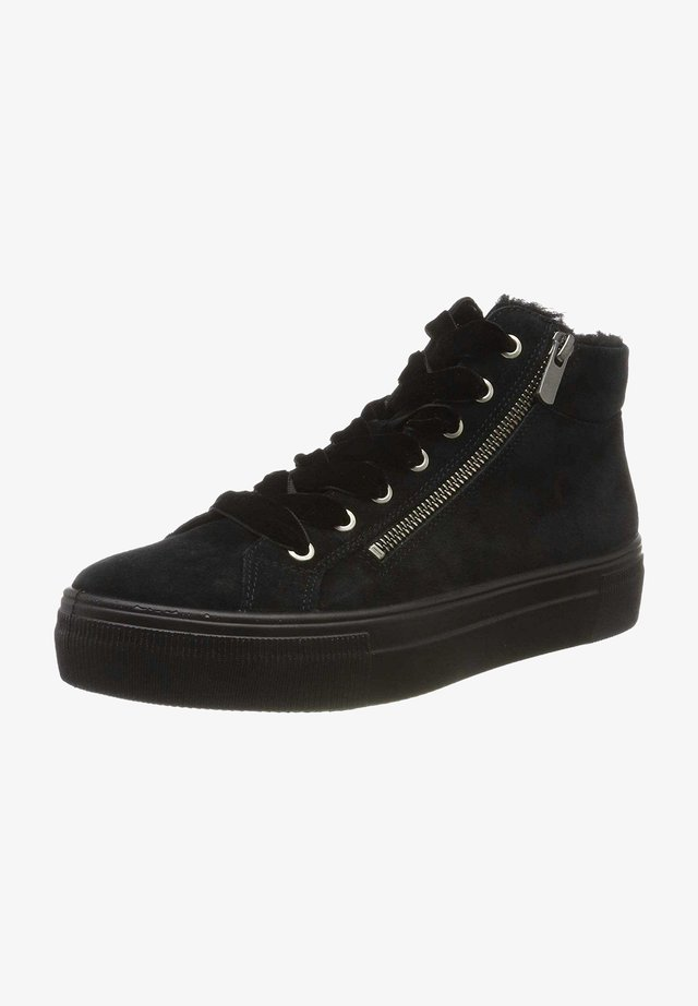 Lace-up ankle boots - schwarzschwarz