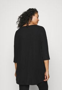 CAPSULE by Simply Be - SOFT TOUCH SIDE POCKET - T-shirts - black - 2