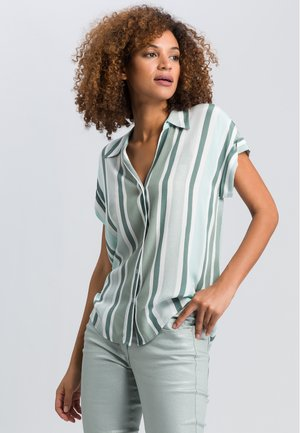 Button-down blouse - jade varied