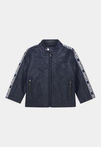 Guess - JACKET - Faux leather jacket - bleu/deck blue - 0