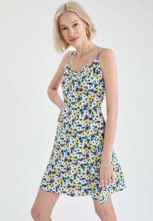 FLOWER PRINT - Day dress - blue