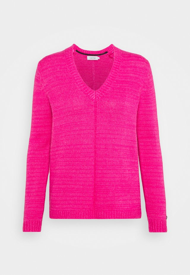 V NECK  - Jumper - fuchsia purple
