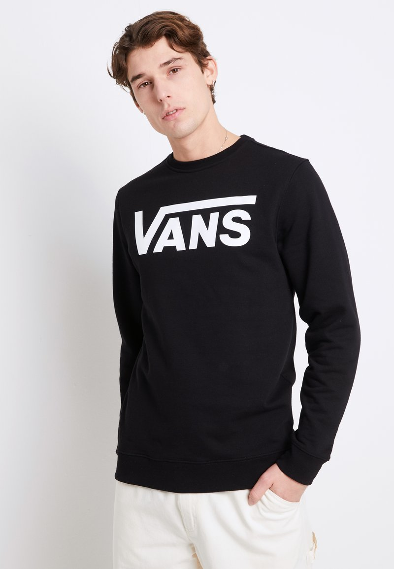 Vans - CLASSIC CREW - Bluza - black/white