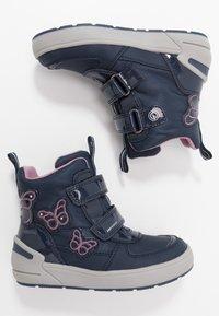 Geox - SLEIGH GIRL ABX - Winter boots - navy/dark lilac - 1