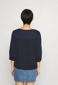 Esprit - FAB MIX TEE - Bluzka z długim rękawem - dark blue - 2