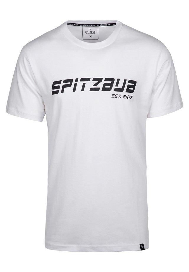 JULIAN - Print T-shirt - weiß