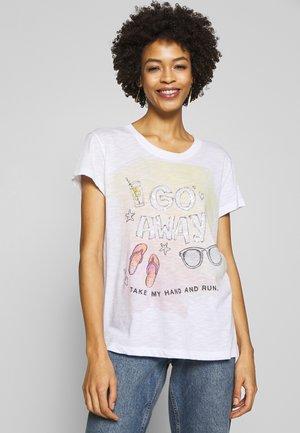 GO AWAY - T-shirt imprimé - white
