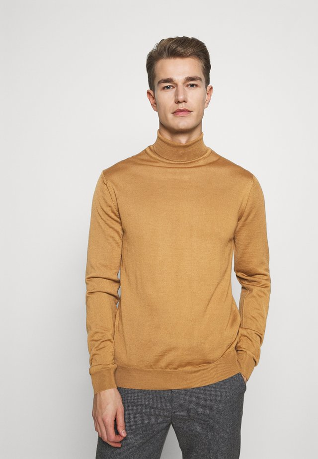 KONRAD  - Stickad tröja - tobacco brown