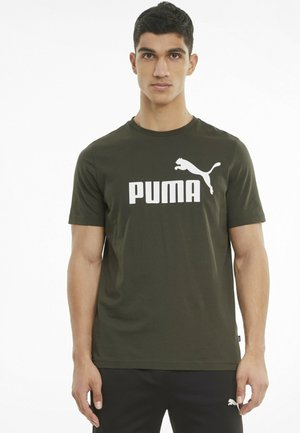 ESSENTIALS LOGO MAND - Print T-shirt - forest night