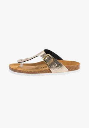 PALADO KOS - T-bar sandals - python gold