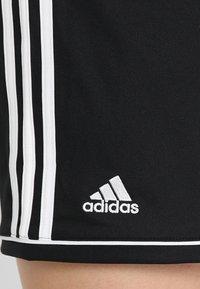 adidas Performance - SQUADRA CLIMALITE FOOTBALL 1/4 SHORTS - Träningsshorts - black/white - 5