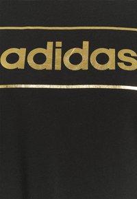 adidas Performance - Print T-shirt - black/gold - 2